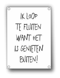 Tuin Poster | fluiten|  50x70 cm