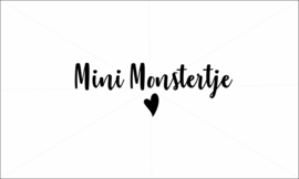 Mini monstertje