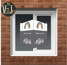 Raambord geboorte| Regenboog Mitch