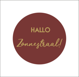 Muurdots |  Hallo Zonnestraal | wijnrood