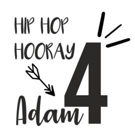 Raamsticker verjaardag  hiphophooray