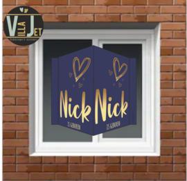 Raambord geboorte| Gouden hartjes Nick