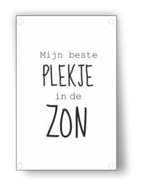 Tuin Poster | plekje in de zon |  50x70 cm