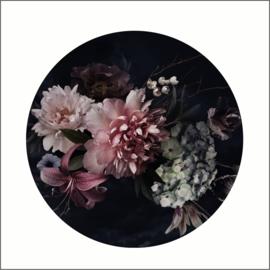 Muurdots |  buiten | vintage bloemen