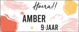 Verjaardags banner | Hoera met verfstrepen