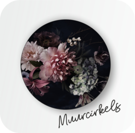 Muurcirkel Vintage flower