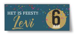 Verjaardags banner | feest confetti