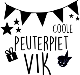 Coole kleuterpiet strijkapplicatie