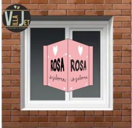 Raambord geboorte | hartje Rosa