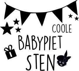 Coole babypiet strijkapplicatie