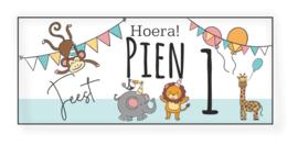 Verjaardags banner | Wilde dieren