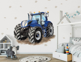Behang Expresse Kate & Andy INK7443 tractor blauw