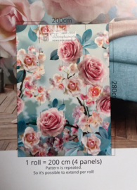 Colorful Florals & Retro INK7294 Pink Roses