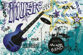 @Walls fotobehang gitaar blauw 0323