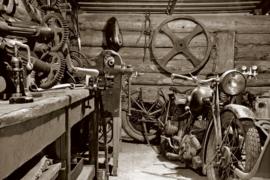 @Walls fotobehang vintage garage 0319