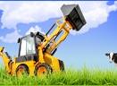 Shovel / kraan / tractor 3750038 Farm Life behangrand zelfklevend