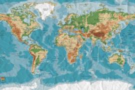 XXL wallpaper world trip DD100002 wereldkaart