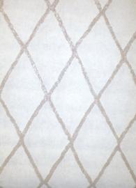 Behang met ruit motief 219688