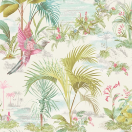 Eijffinger Pip Studio 5 behang 300140 Palm Scene wit