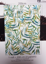 Colorful Florals & Retro INK7301 Big Leaves White