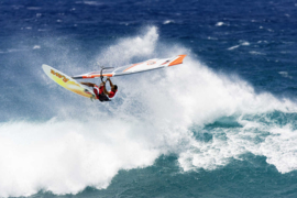 XXL wallpaper windsurfer on big wave 470335
