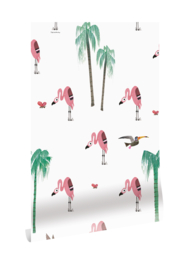Behang Fiep Westendorp Flamingo's WP-122 Kek