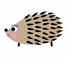 Fabs world 8007 A-B hedgehog poster behang egel