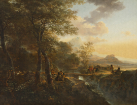 8022 Italian Landscape Painted Memories Spits