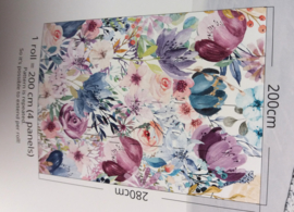 Colorful Florals & Retro INK7296 Watercolor Floral