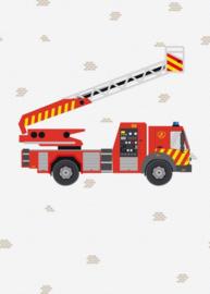 Behang Expresse Kate & Andy INK7437 brandweerwagen