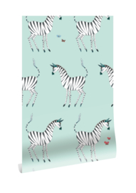 Behang Fiep Westendorp Zebra Mint  WP-128 Kek