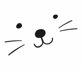 Fabs world 8006 A-B catface poster behang