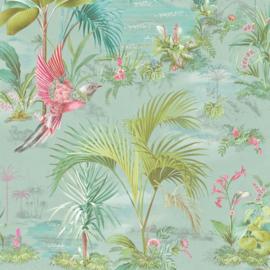 Eijffinger Pip Studio 5 behang 300145 Palm Scene blauw