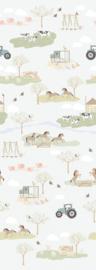 Behang Expresse Kate & Andy INK7470 op de boerderij (beige)