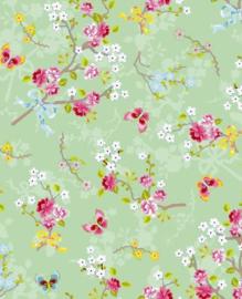 Eijffinger Pip Studio IIII behang 375073 Chinese Rose Green