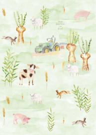 Behang Expresse Kate & Andy INK7430 boerderij (groen)