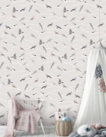 Behang Expresse Kate & Andy INK7425 vogels (grijs)