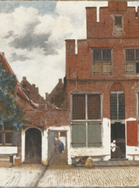 8012 Vieuw of Houses in Delft Painted Memories Spits