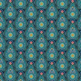 Eijffinger Pip Studio 5 behang 3001053 Raindrops donker blauw