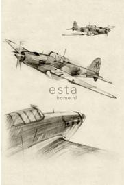 PhotowallXL aeroplane sketches 158805 vliegtuig