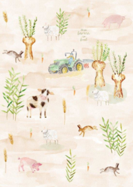 Behang Expresse Kate & Andy INK7435 boerderij (zand)