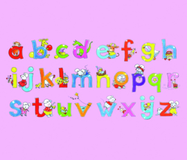Alphabet Pink 5004 A/B Sweet Collection