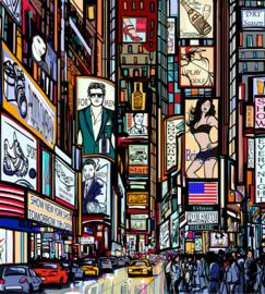 @Walls fotobehang Times Square 0013