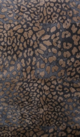 Panterprint behang zwart goud 38523-4
