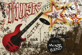 @Walls fotobehang gitaar rood 0324