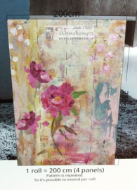 Colorful Florals & Retro INK7314 Paint yr Wall