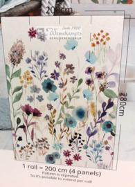 Colorful Florals & Retro INK7281 Aqua Garden