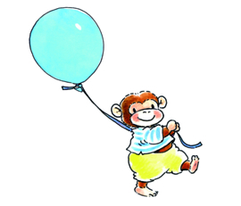Monkey With a Balloon 5001 A/B Sweet Collection