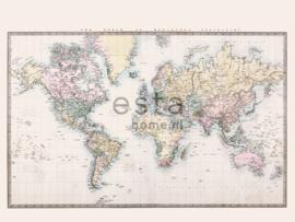 PhotowallXL vintage world map 158210 wereld kaart