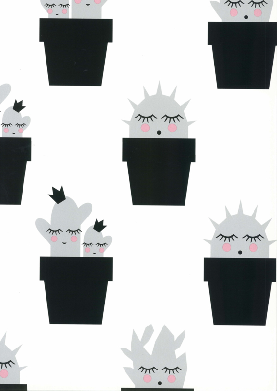 Fabs world 67102 behang met cactus
